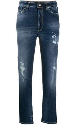 Dondup cropped straight leg jeans