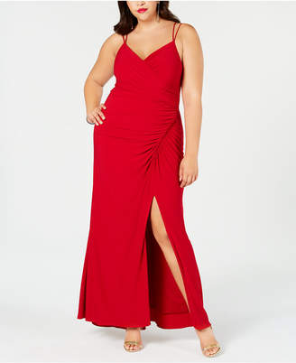 Adrianna Papell Plus Size Ruched Jersey Gown