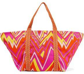 M Missoni Printed Canvas Tote