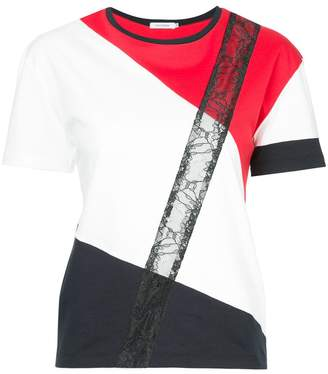 GUILD PRIME colour blocked lace T-shirt
