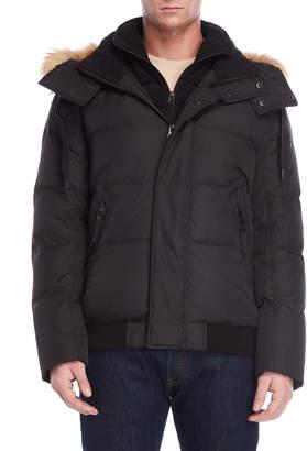 Andrew Marc Clermont Faux Fur Hood Trim Down Jacket