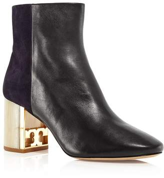 Tory Burch Women's Gigi Leather & Suede Block Heel Booties