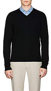 Piattelli MEN'S WOOL V-NECK SWEATER-BLACK SIZE S
