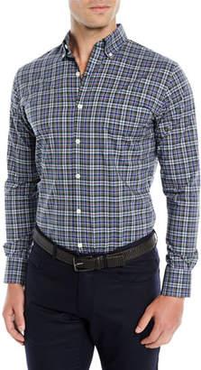 Peter Millar Men's Acadia Tartan Plaid Sport Shirt