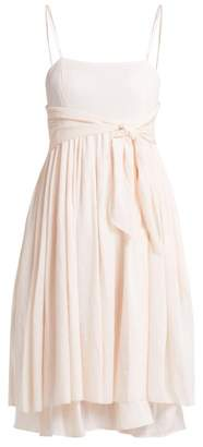 Loup Charmant - Lily Layered Cotton Dress - Womens - Light Pink
