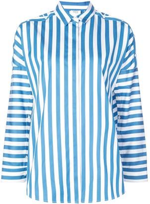 Akris Punto button detailed striped blouse