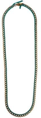 Lulu Frost Curb Chain Suede Necklace