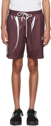 adidas by Alexander Wang Purple and White Drawcord Shorts