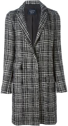 Lanvin Prince of Wales check tweed coat $4,643 thestylecure.com