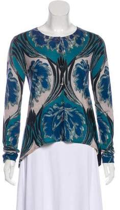 Yigal Azrouel Printed Long Sleeve Cardigan