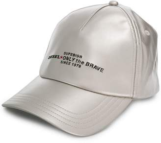 Diesel metallic baseball cap