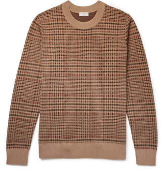 Dries Van Noten Checked Merino Wool-Blend Sweater