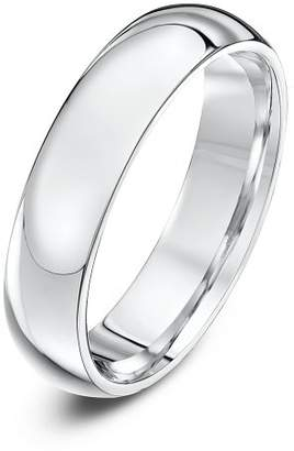Theia Palladium 950 Super Heavy - Court shape 5mm Wedding Ring - Size Z