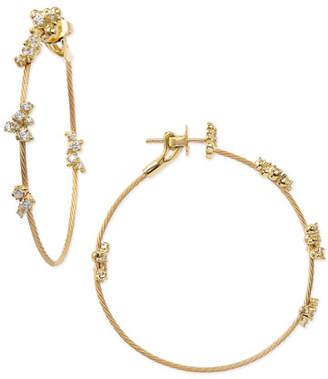 Paul Morelli 18k Yellow Gold Diamond Confetti Single Wire-Hoop Earrings