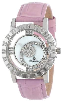 Burgmeister Ladies Quartz Watch with Mother Of Pearl Dial Analogue Display and Pink Leather Strap BM517-118