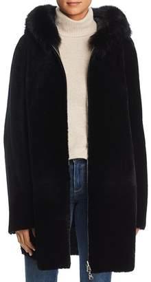 Maximilian Furs Reversible Lamb Shearling Coat with Fox Fur Trim - 100% Exclusive