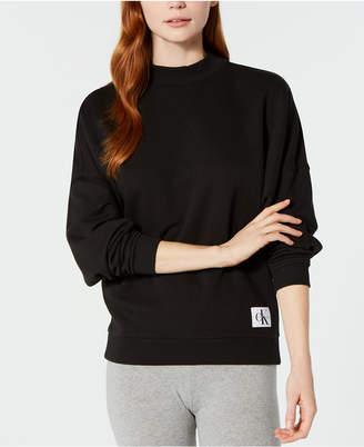 Calvin Klein New! Monogram Lounge Long-Sleeve Sweatshirt