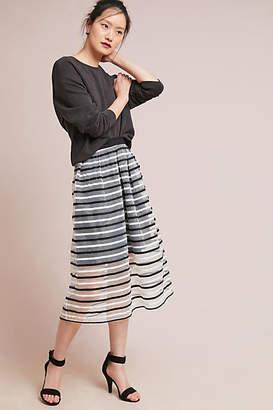 Eva Franco Striped Tulle Skirt