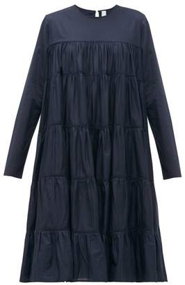 Merlette New York Essaouira Tiered Cotton Lawn Dress - Womens - Navy