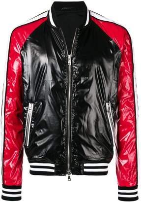 Balmain zipped up bomber jacket