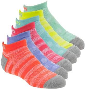 Skechers Girls' S109988 6-Pk Non Terry Low Cut Socks