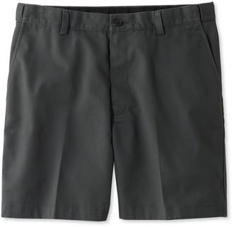 "L.L. Bean L.L.Bean Men's Double LA Chino Shorts, Hidden Comfort Waist Plain Front 6"" Inseam"