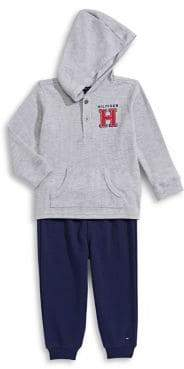 Tommy Hilfiger Baby's Two-Piece Thermal Hoodie and Pants Set