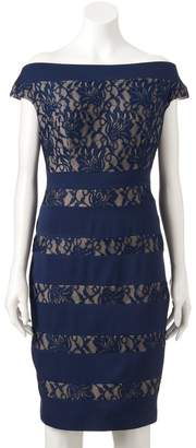 Jax Women's Lace Off-the-Shoulder Sheath Dress