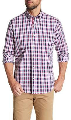 Tailorbyrd Woven Plaid Long Sleeve Button Shirt