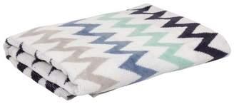 EIGHTMOOD Havana Set of 4 Zigzag Stripe Towels - Navy