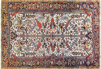 "One Kings Lane Vintage Antique Persian Heriz Rug - 7'3"" x 10'6"" - Eli Peer Oriental Rugs"