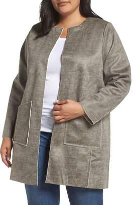 Bobeau Anja Faux Shearling Sweater Coat