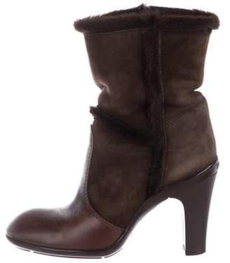 Hogan Suede Ankle Boots Brown Suede Ankle Boots