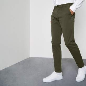 River Island Dark green super skinny chino pants