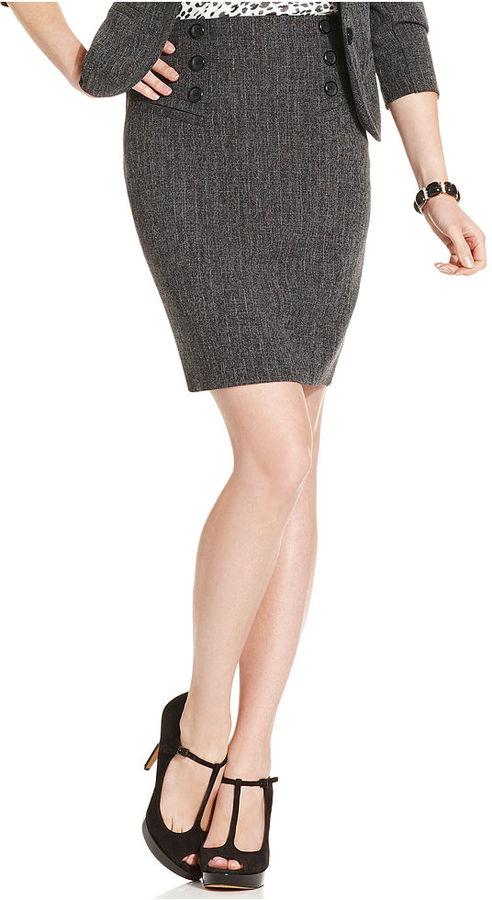 Amy Byer BCX Juniors Skirt, Tweed Pencil