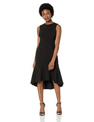 Calvin Klein Women's Petite Sleevless High Low Flounce Hem Dress