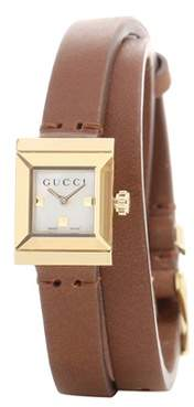 Gucci G-Frame Small Square leather watch