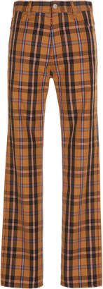 Maison Margiela Slim-Fit Checked Twill Pants