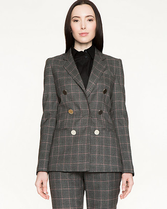 Le Château Canadian-Made Plaid Tweed Blazer