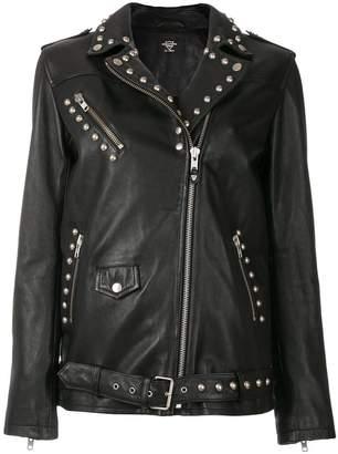 HTC Los Angeles studded biker jacket