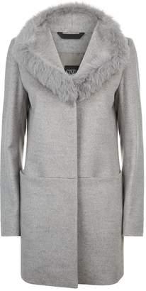 Cinzia Rocca Fox Fur Trim Wool Coat