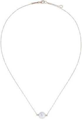 Rosa De La Cruz 18K yellow gold pearl pendant necklace