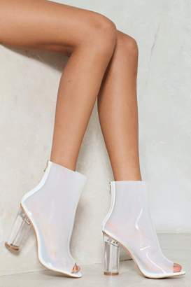 Nasty Gal High Emotions Clear Bootie