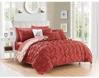 Chic Home Yabin 8 Piece Reversible Comforter Set Complete Bed in a Bag