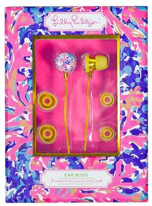 Lilly Pulitzer Coco Coral Crab Earbuds