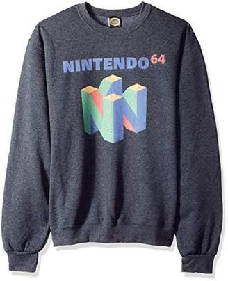 Nintendo Unisex-Adult's Men's N64 Logo Short Sleeve T-Shirt
