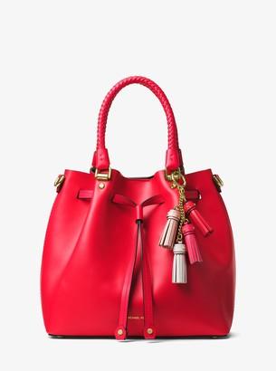 MICHAEL Michael Kors Leather Mini Tassel Key Chain