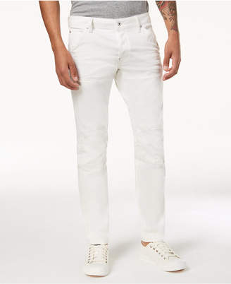 G Star Men's Slim Fit Stretch White Jeans, Created for Macy's