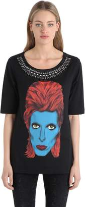 John Richmond Embellished Cotton Jersey T-Shirt