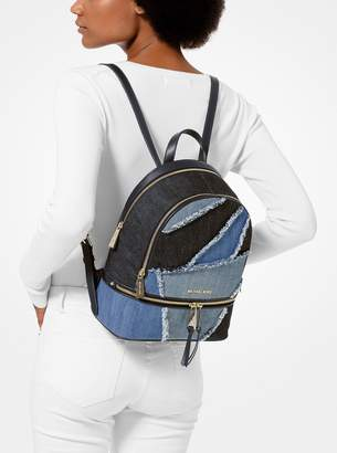 fefa769ecd8f52 MICHAEL Michael Kors Rhea Medium Frayed Denim Backpack